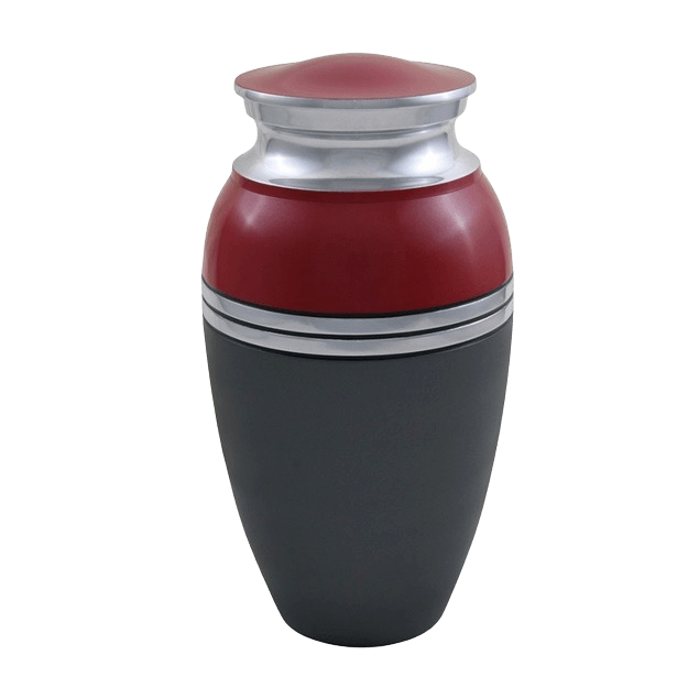 Acropolis Bright Red Cremation Urn