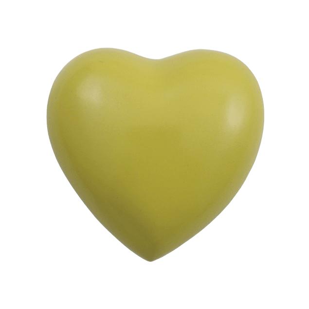 Acropolis Bright Yellow Heart Keepsake Urn