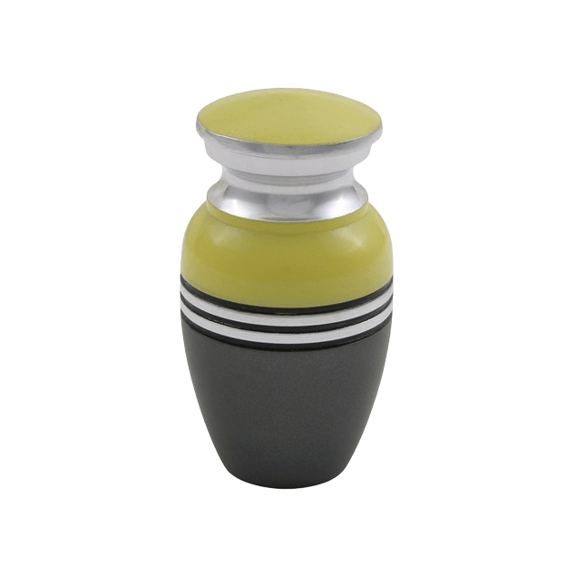 Acropolis Bright Yellow Keepsake Cremation Urn