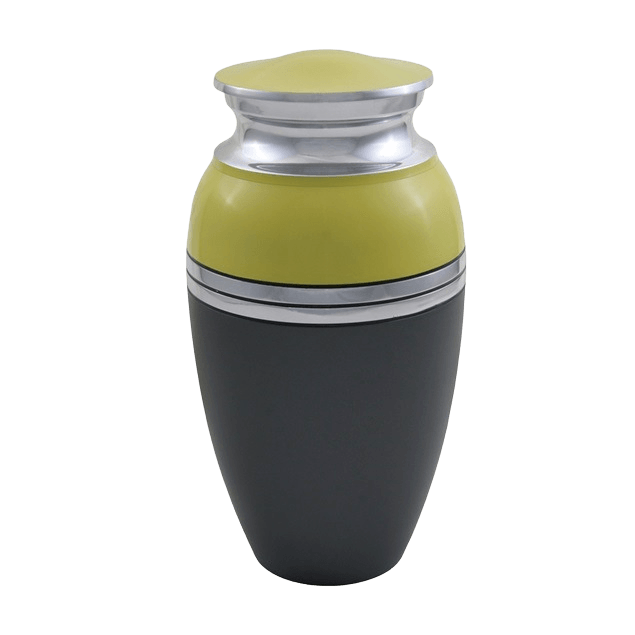 Acropolis Bright Yellow Cremation Urn