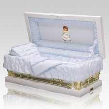 Precious Moments African American Boy Casket - Mini
