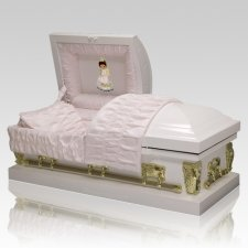 Precious Moments African American Girl Casket - Medium
