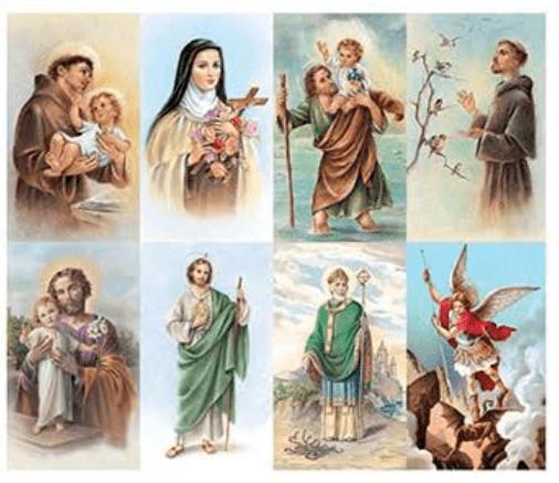 Saints Prayer Cards