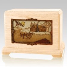 Rustic Paradise Maple Hampton Cremation Urn