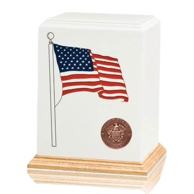 American Flag Navy Cremation Urn