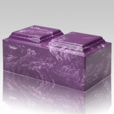 Amethyst Marble Companion Cremation Urn
