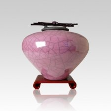 Raku Amethyst Small Cremation Urn