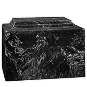 Amity Black Marble Cremation Urn