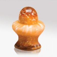 Orange Glass Keepsake Cremation Urn