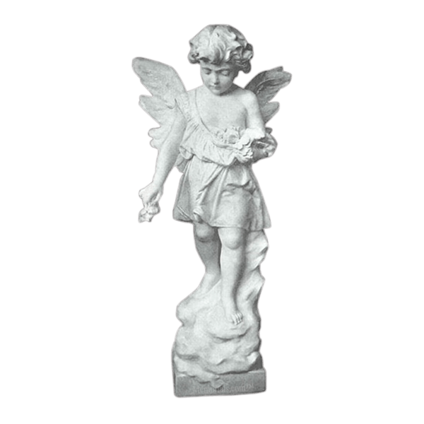 Tranquil Angel Granite Statue