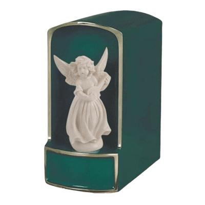 Angel with Mandolin Bronze Cremation Urn