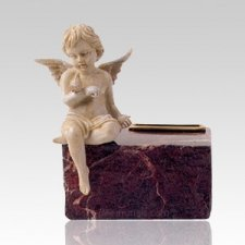Cherub Rouge Marble Pet Urn