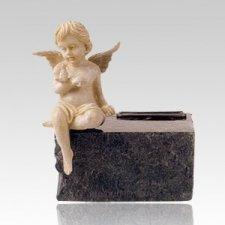 Cherub Noir Marble Pet Urn