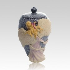 Embrace Angel Color Pet Cremation Urn