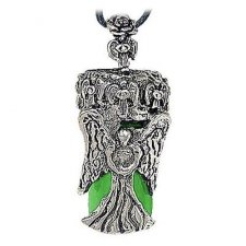 Angel Green Urn Cremation Necklace