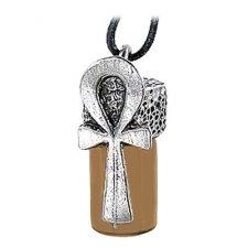 Life Ankh Brown Glass Cremation Keepsake