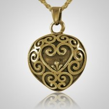 Antique Heart Keepsake Pendant II