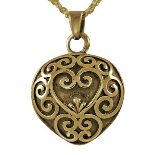 Antique Heart Keepsake Pendant IV