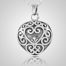 Antique Heart Keepsake Pendant