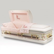 Antique Rose Metal Caskets
