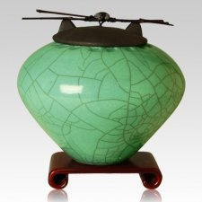Raku Aqua Cremation Urns