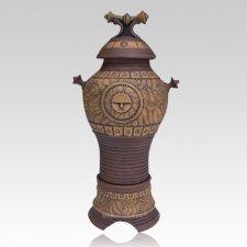 Sun City Art Cremation Urn