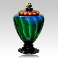 Unique Glazia Glass Urn