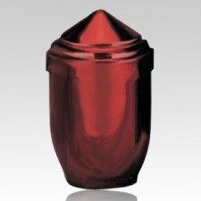 Artisan Red Pet Cremation Urn