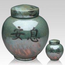 Asian Raku Cremation Urns
