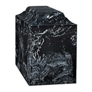 Atrina Black Marble Cremation Urn