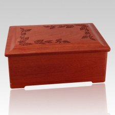 Autumn Leaves Wood Cremation Urn