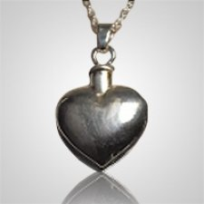 Polished Heart Keepsake Pendant