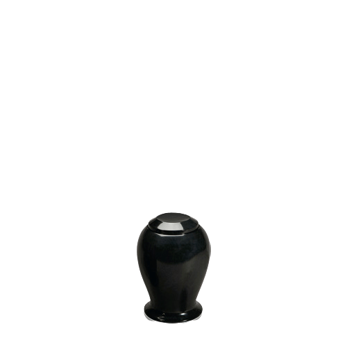 Black Night Small Marble Cremation Urn