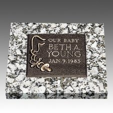 Baby Pacifier Children Bronze Grave Marker