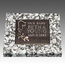 Baby Pacifier Children Bronze Grave Marker