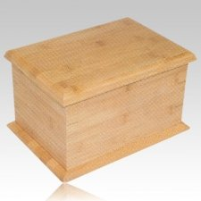 Bamboo Wood Cremation Urn II