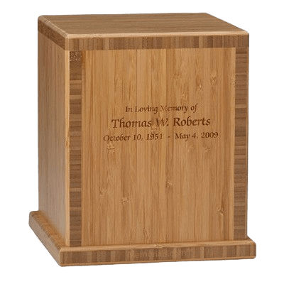 Dark Bamboo Wood Cremation Urn