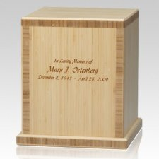 Light Bamboo Wood Cremation Urn