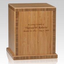 Bamboo Caramel Cremation Urn