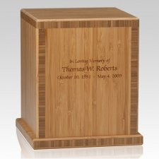 Bamboo Caramel Green Cremation Urns