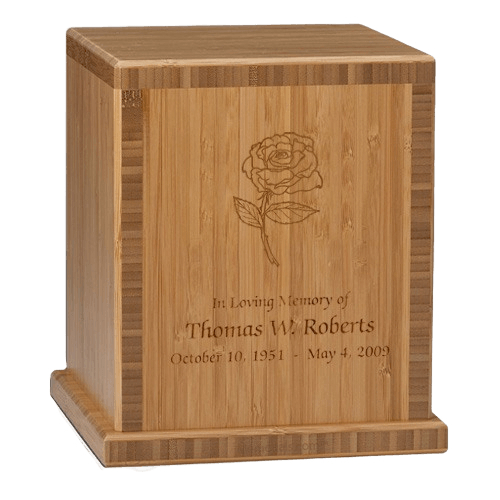 Rose Bamboo Caramel Cremation Urn