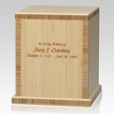 Bamboo Natural Cremation Urn