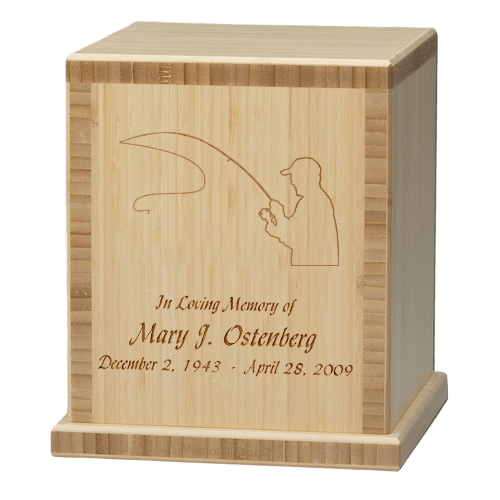 Fisherman Bamboo Natural Cremation Urn
