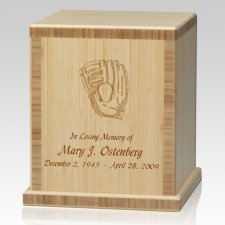 Glove Bamboo Natural Cremation Urn