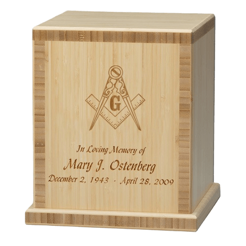Mason Bamboo Natural Cremation Urn