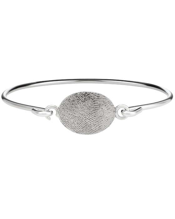 Fingerprint Sterling Bangle Bracelet