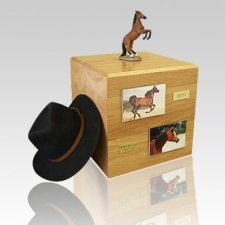 Bay Rearing Full Size Horse Urns