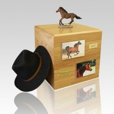 Bay Running Full Size Horse Urns