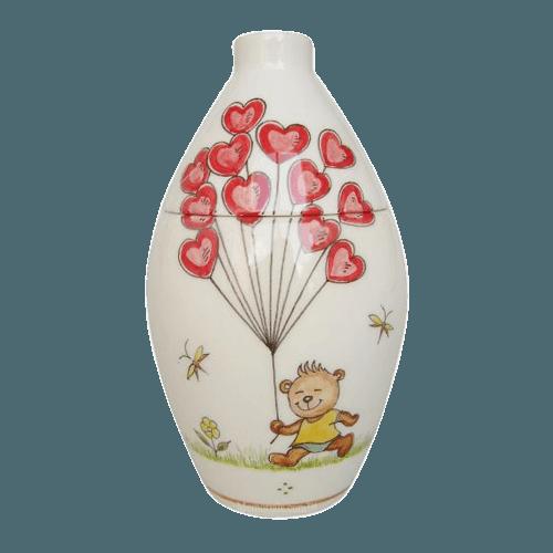 Bear With Balloons Keepsake Cremation Urn
