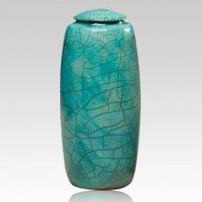 Bella Turquoise Ceramic Cremation Urn